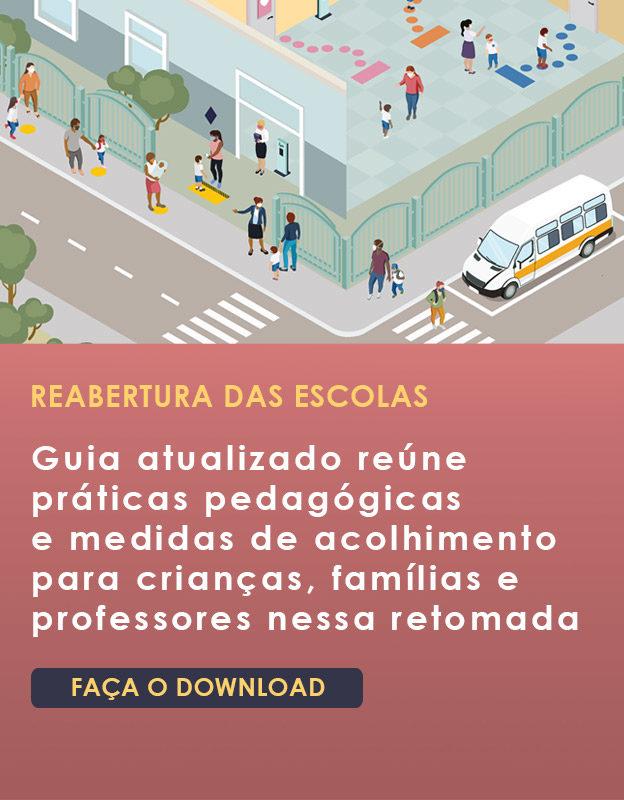 Banner da publicação de retorno às atividades presenciais na educação infantil - Acolhimento e práticas pedagógicas
